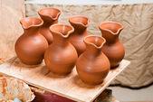 Pots in workshop — Stock Photo