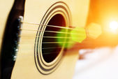Detail of classic guitar — Stock Photo