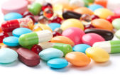 Pills isolated on white background — Stock Photo