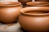 Pots. background — Stock Photo