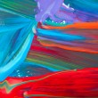Stock Photo: Abstract art backgrounds. Hand-painted background. SELF MADE