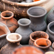 Pots background — Stock Photo #24533869