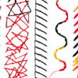 Collection of Stitch Patterns — Stock Photo