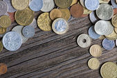 Coins of different countries and times — Stock Photo