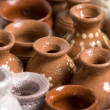 Pots background — Stock Photo