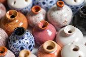 Pots in glaze — Stock Photo