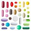Colorful pills isolated on white background — Stock Photo #49084989