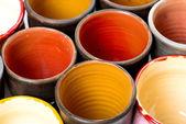 Ceramic pots in glaze — Stock Photo