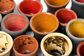 Ceramic pots in glaze — Stock Photo
