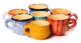 Ceramic cups in glaze — Stock Photo