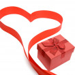 Red Heart with gift box — Stock Photo #7899364