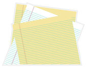 Stacked Paper — Stock Vector