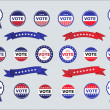 Stock Vector: Voting Badges and Stickers for Elections