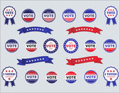 Voting Badges and Stickers for Elections — Stock vektor