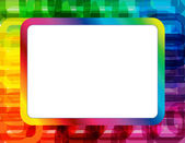 Abstract Spectrum Frame — Stock Vector