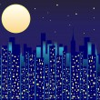 City at Night — Stock Vector
