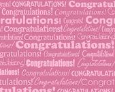 Gefeliciteerd — Stockvector