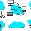 Stock Vector: Cloud Computing
