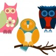 Stock Vector: Owls