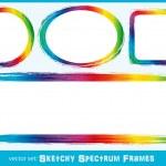 Sketchy Spectrum Frames — Stock Vector #27463689