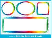 Quadros de espectro esboçado — Vetorial Stock
