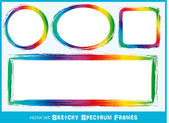 Sketchy Spectrum Frames — Stock Vector