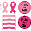 Breast Cancer Awareness-Fight like a Girl — Stock Vector