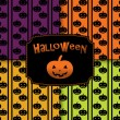 Halloween pumpkins seamless pattern background — ストックベクタ