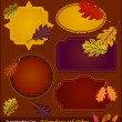 Stock Vector: Autumn Scrapbook stickers