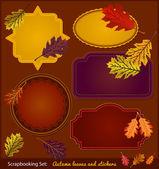 Autumn Scrapbook stickers — Stock Vector