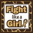 Stock Vector: Breast Cancer Awareness-Fight like Girl