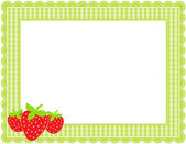 Strawberry Gingham Frame — Stock Vector