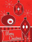 Retro vánoční ozdoby — Stock vektor