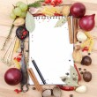 Notebook for recipes and spices — Stock Photo #13947286