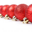 Stock Photo: Red christmas ball isolated on white background