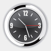 Wall Clock Black — Stock vektor