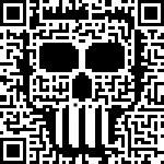 Barcode Skull — Stock Vector