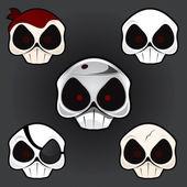 Skull Set 1 — Stock Vector