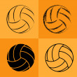 Volleyball Ball Set 2 — Vettoriali Stock