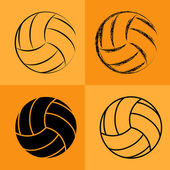 Volleyball Ball Set 2 — Vettoriale Stock