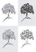 Tree Desing Element Set 1 — Stock Vector