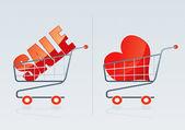 Shopping cart 3 — Stock Vector