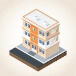 Isometric Buildings Set 1 — Stock Vector #51620971
