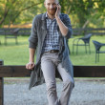 Trendy guy talking on mobile phone — Stock Photo #49677345