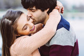 Young couple in love outdoor — Stock Photo