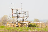 Wellhead in the oil and gas industry. — Stock Photo