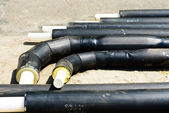 Plastic heating pipes before installation — Stock Photo