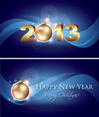 New Year Celebration Card — Stock Vector