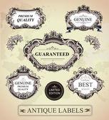 Vintage gerahmte etiketten — Stockvektor