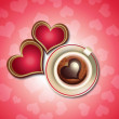 Valentine's Chocolate Hearts and Coffee — Stock Vector